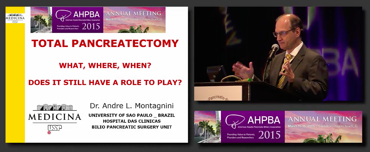 Post Grad Course: Treatment of HPB Malignancies: Pancreas; #4 Montagnini