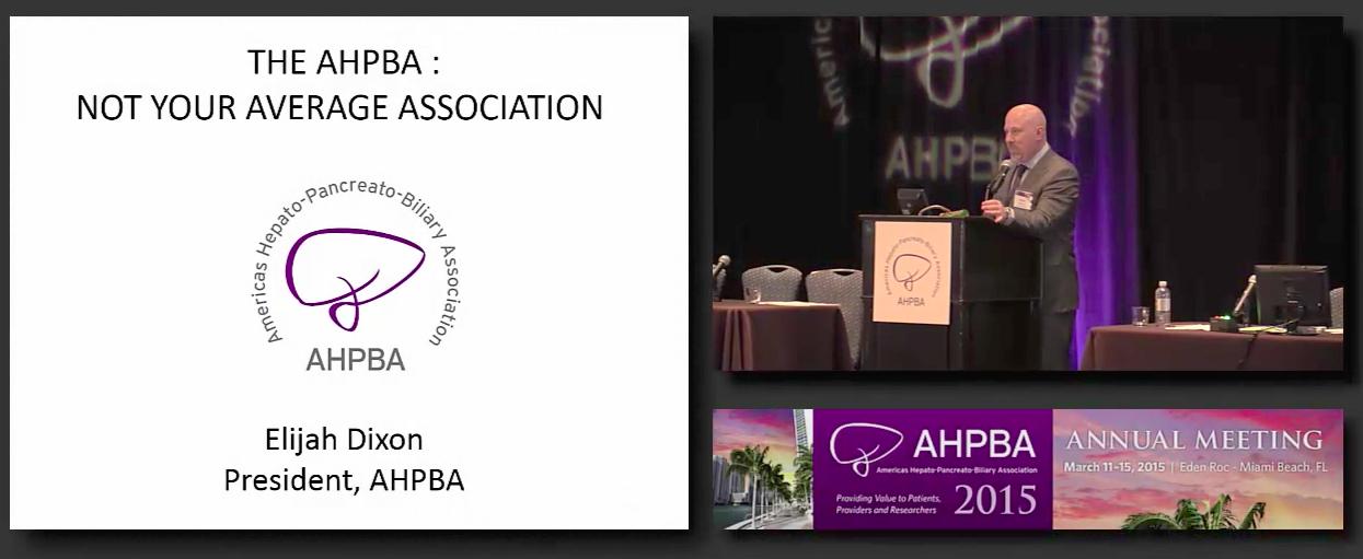 2015 AHPBA Presidential Address
