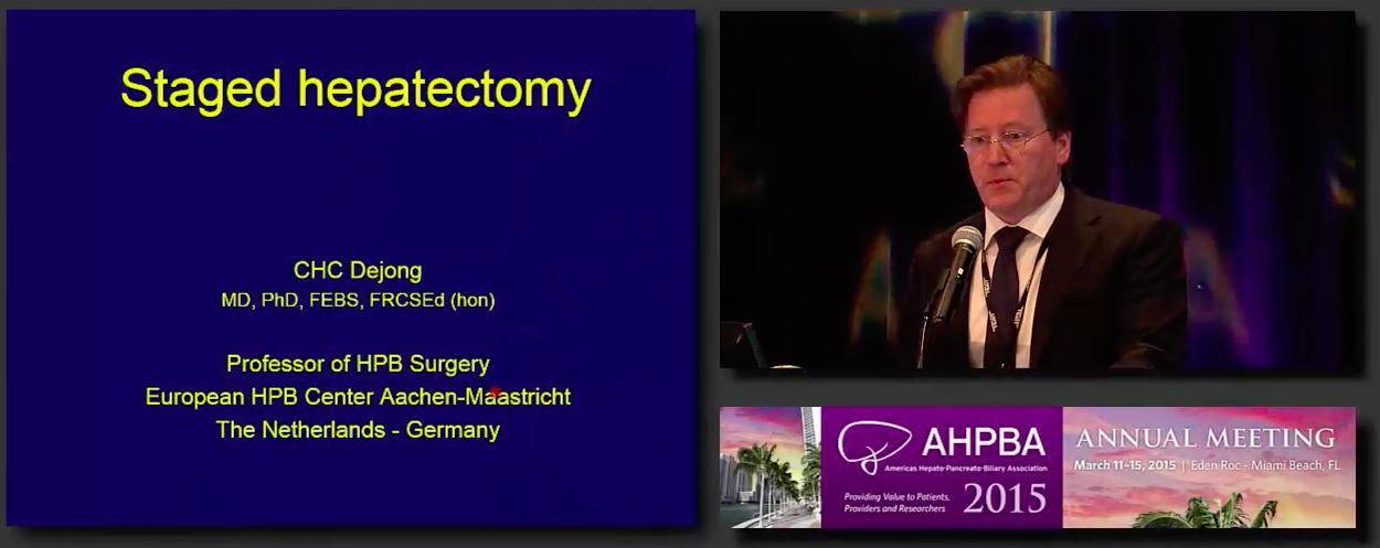 Post Grad Course: Treatment of HPB Malignancies: Liver-Biliary #7; Dejong