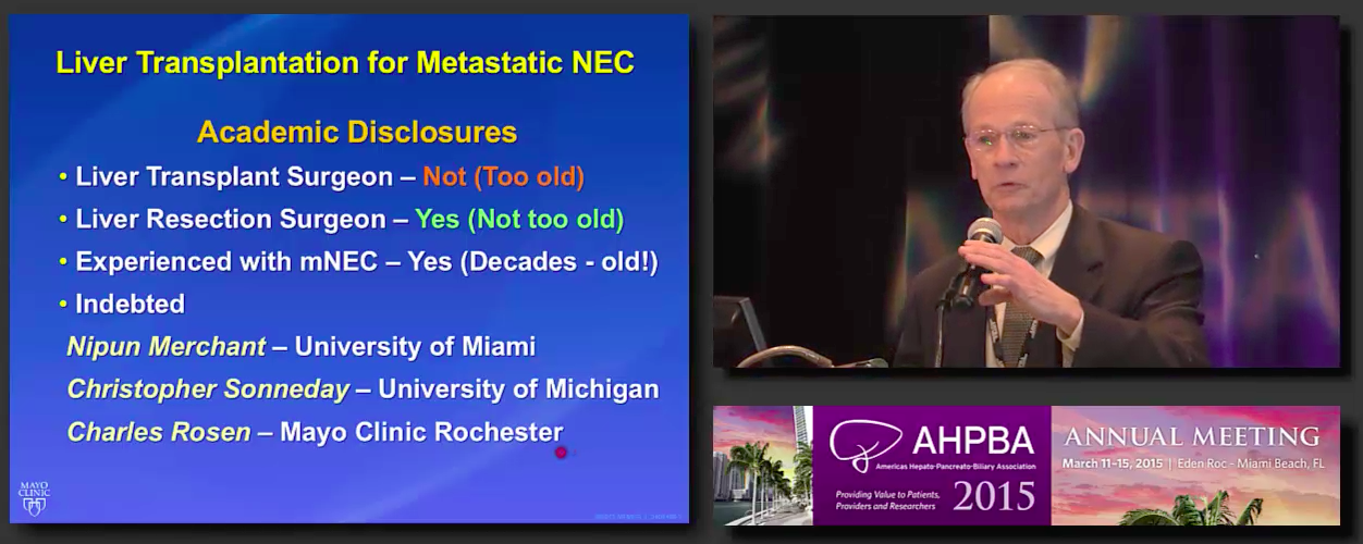 Post Grad Course: Treatment of HPB Malignancies: Transplant #2 Nagorney