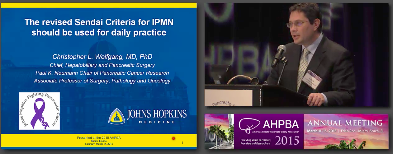 Debate A: Rapid Fire: Adherence to Sendai Criteria for IPMN Management, Wolfgang