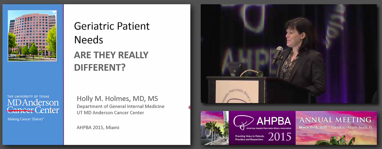 Lunch Symposium: Geriatric and Frailty Evaluation in HPB Surgery: #1 Holmes