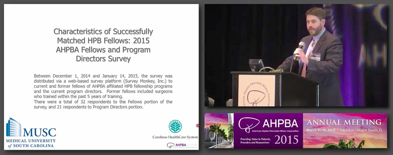 Bernard Langer Symposium: Considering an HPB Fellowship; Residents Guide, #4 Dowden