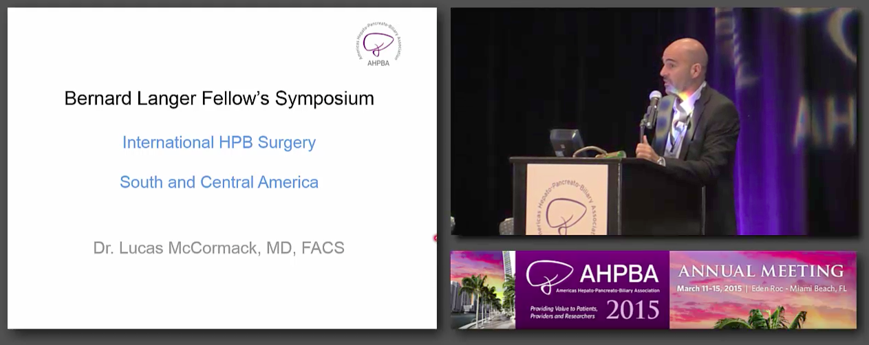 Bernard Langer Symposium: International HPB Surgery, #3 McCormack
