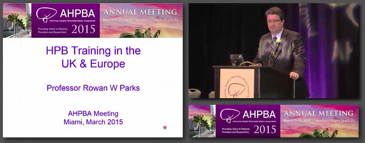 Bernard Langer Symposium: International HPB Surgery, #2 Parks