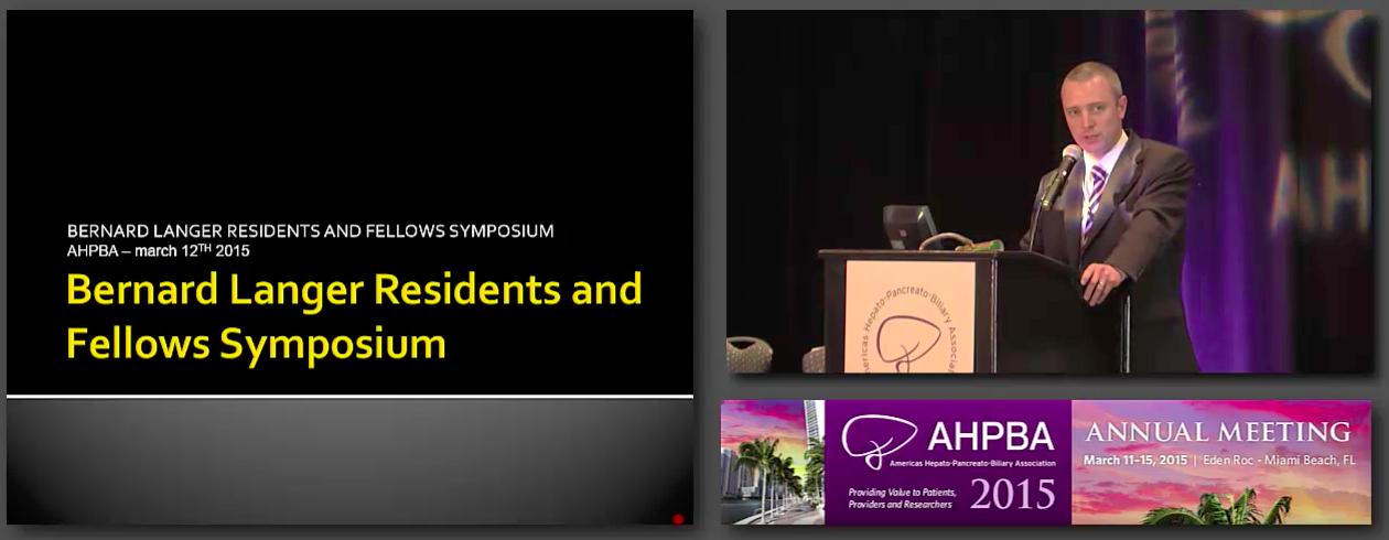 Bernard Langer Symposium: International HPB Surgery, #1 Introduction, Stafford